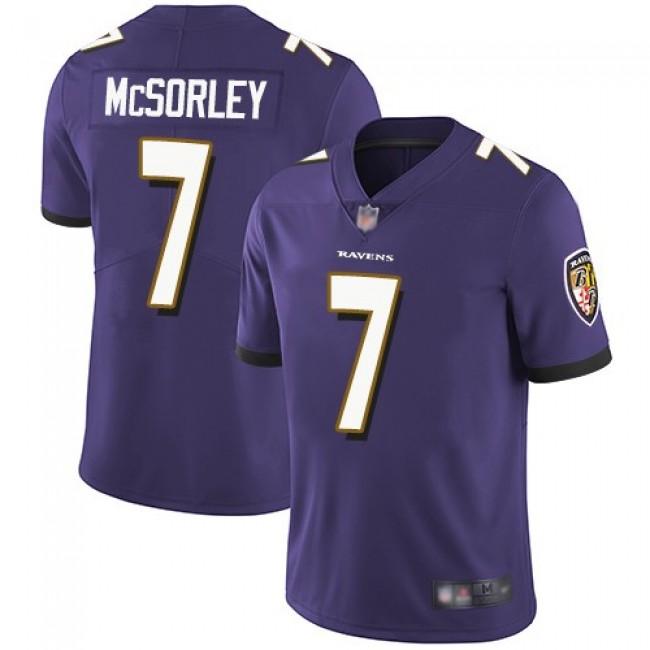 Nike Ravens #7 Trace McSorley Purple Team Color Men's Stitched NFL Vapor Untouchable Limited Jersey