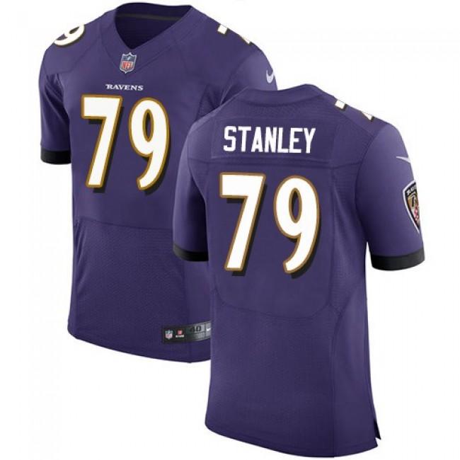 Nike Ravens #79 Ronnie Stanley Purple Team Color Men's Stitched NFL Vapor Untouchable Elite Jersey
