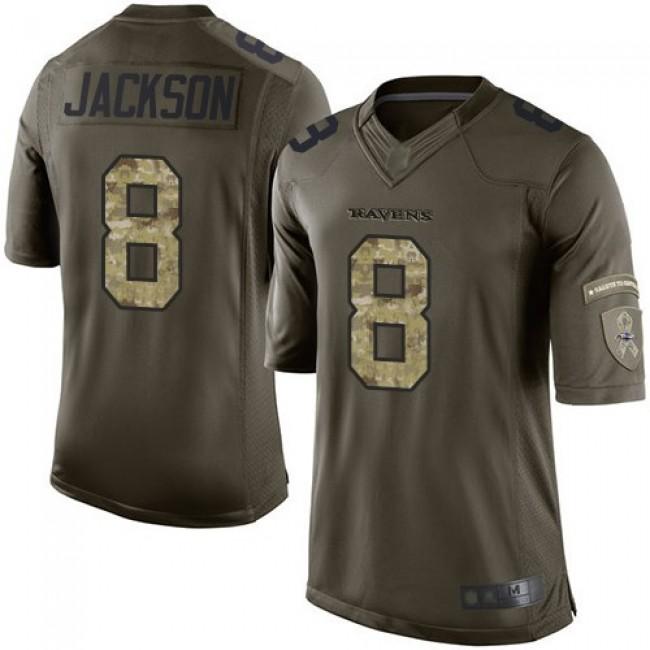 Nike Ravens #8 Lamar Jackson Green Men's Stitched NFL Limited 2015 Salute to Service Jersey