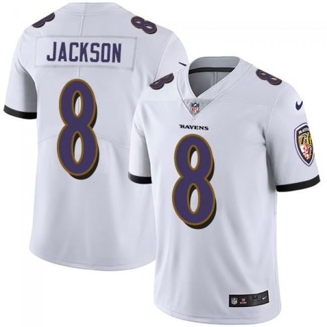 Nike Ravens #8 Lamar Jackson White Men's Stitched NFL Vapor Untouchable Limited Jersey