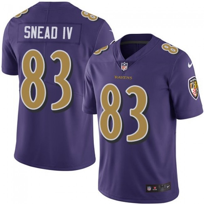 Nike Ravens #83 Willie Snead IV Purple Men's Stitched NFL Limited Rush Jersey
