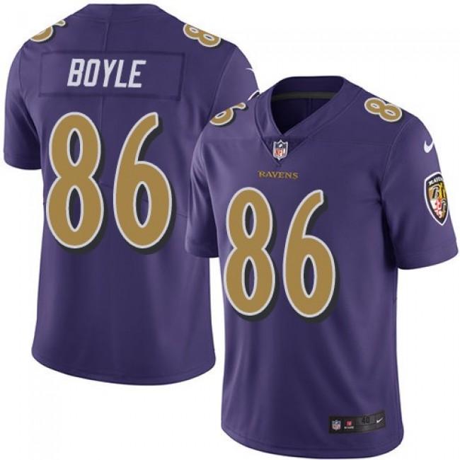 Nike Ravens #86 Nick Boyle Purple Men's Stitched NFL Limited Rush Jersey