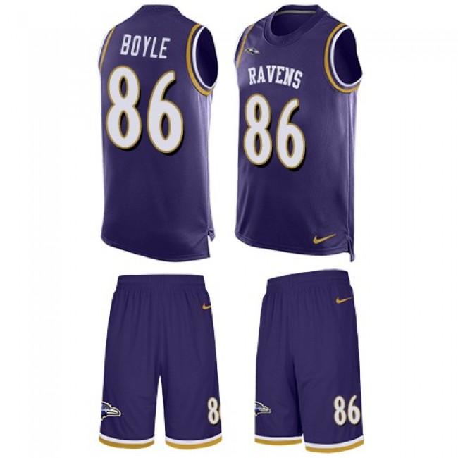 Nike Ravens #86 Nick Boyle Purple Team Color Men's Stitched NFL Limited Tank Top Suit Jersey