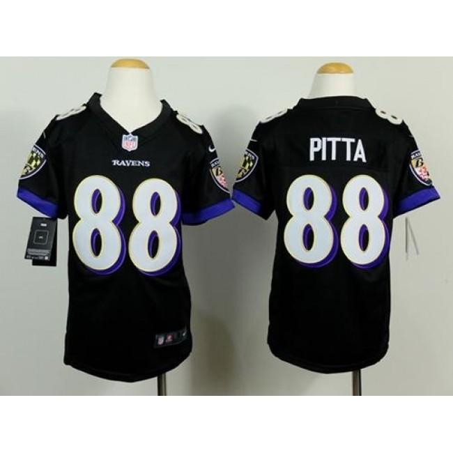 Baltimore Ravens #88 Dennis Pitta Black Alternate Youth Stitched NFL New Elite Jersey