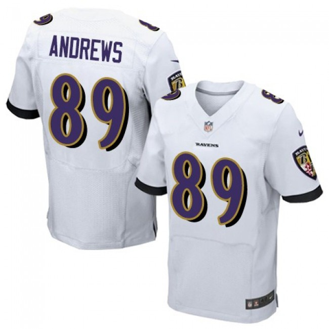 Nike Ravens #89 Mark Andrews White Men's Stitched NFL New Elite Jersey