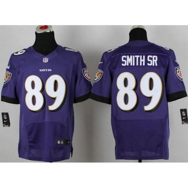 Nike Ravens #89 Steve Smith Purple Team Color Men's Stitched NFL New Elite Jersey