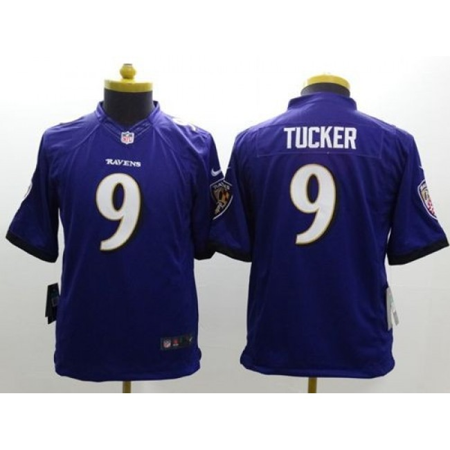 Baltimore Ravens #9 Justin Tucker Purple Team Color Youth Stitched NFL New Limited Jersey