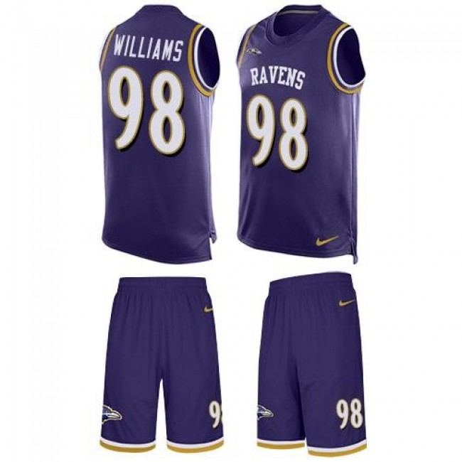 Nike Ravens #98 Brandon Williams Purple Team Color Men's Stitched NFL Limited Tank Top Suit Jersey
