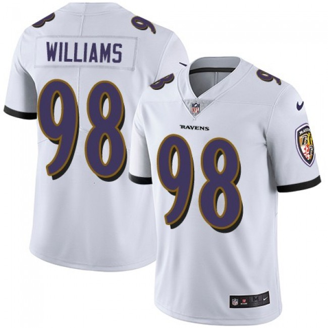 Nike Ravens #98 Brandon Williams White Men's Stitched NFL Vapor Untouchable Limited Jersey