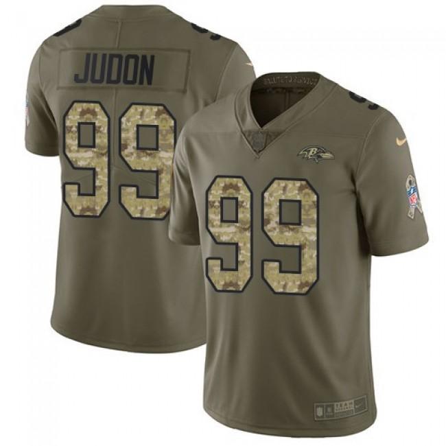 Nike Ravens #99 Matthew Judon Olive/Camo Men's Stitched NFL Limited 2017 Salute To Service Jersey