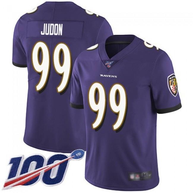 Nike Ravens #99 Matthew Judon Purple Team Color Men's Stitched NFL 100th Season Vapor Untouchable Limited Jersey