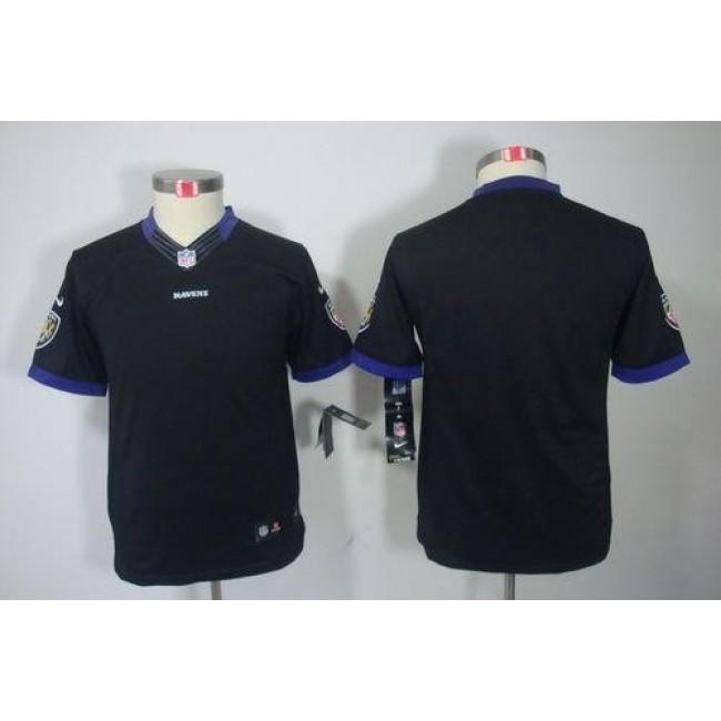 Baltimore Ravens Blank Black Alternate Youth Stitched NFL Limited Jersey
