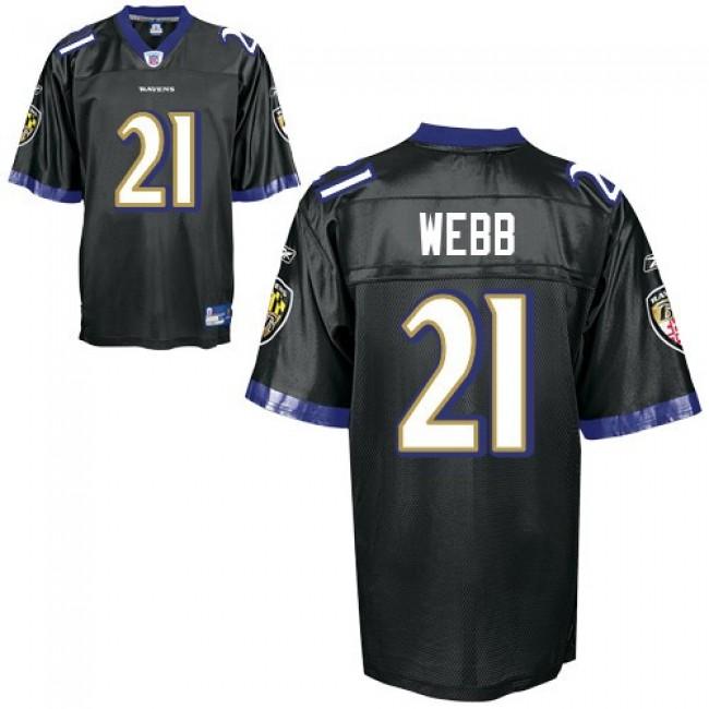 Ravens #21 Lardarius Webb Black Stitched NFL Jersey