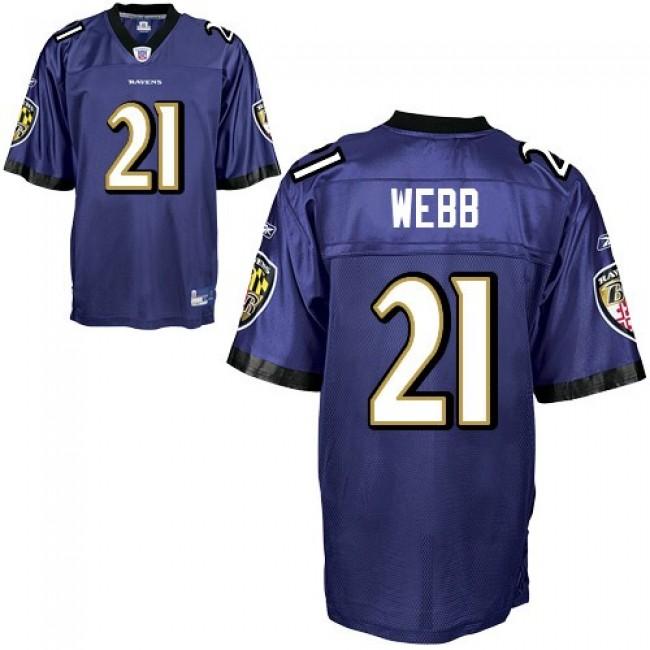 Ravens #21 Lardarius Webb Purple Stitched NFL Jersey