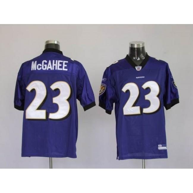 Ravens #23 Willis McGahee Purple Stitched NFL Jersey