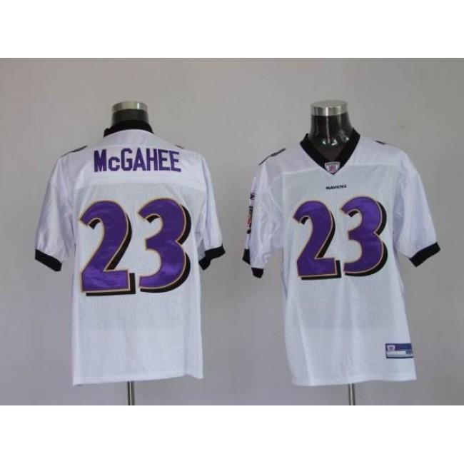Ravens #23 Willis McGahee White Stitched NFL Jersey