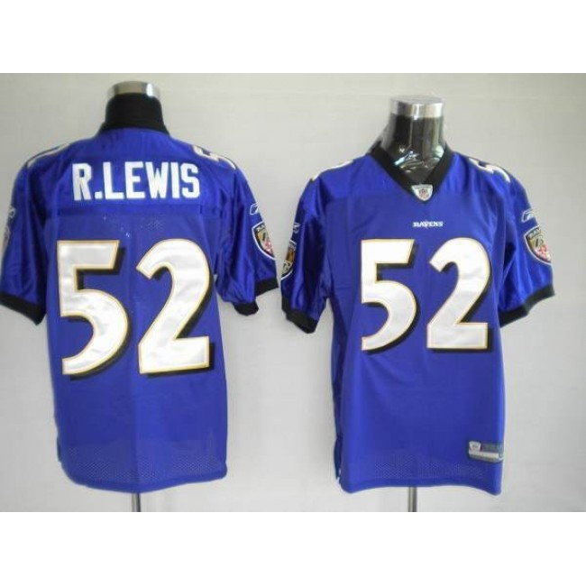 Ravens #52 Ray Lewis Purple Stitched NFL Jersey