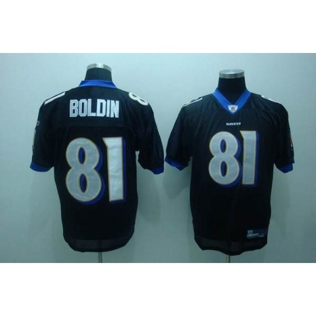 Ravens #81 Anquan Boldin Black Stitched NFL Jersey