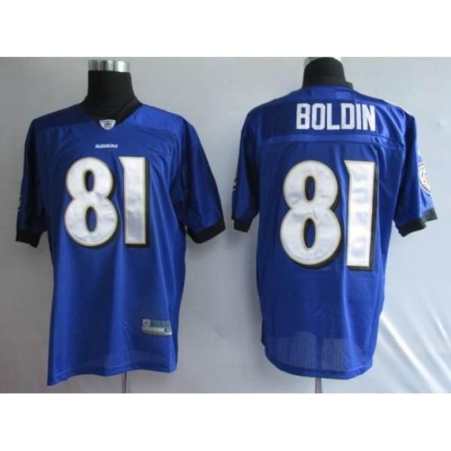 Ravens #81 Anquan Boldin Purple Stitched NFL Jersey