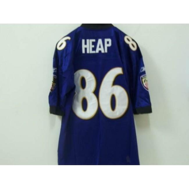 Ravens #86 Todd Heap Purple Stitched NFL Jersey