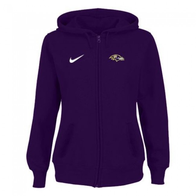 Women's Baltimore Ravens Stadium Rally Full Zip Hoodie Purple Jersey