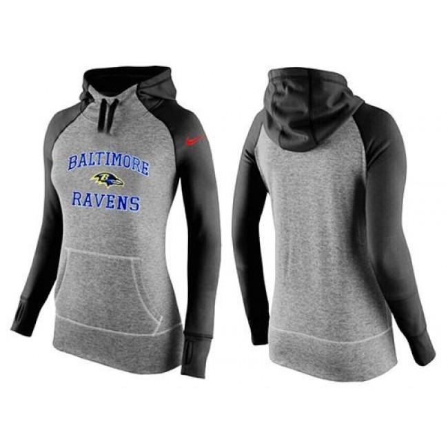Women's Baltimore Ravens Hoodie Grey Black-1 Jersey