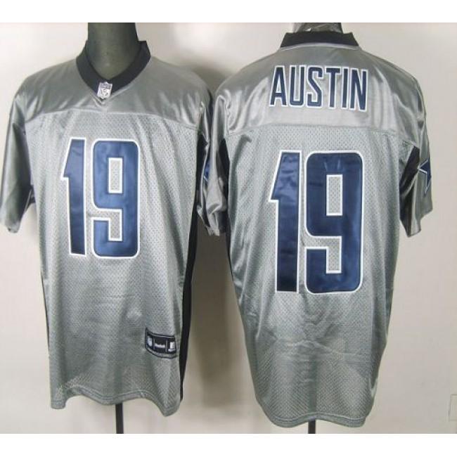 Cowboys #19 Miles Austin Grey Shadow Stitched NFL Jersey
