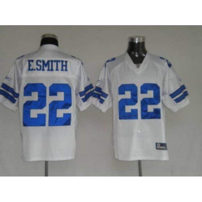 Cowboys #22 Emmitt Smith White Stitched NFL Jersey