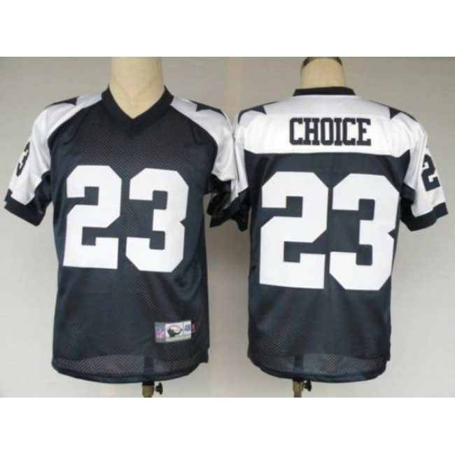 Cowboys #23 Tashard Choice Blue Thanksgiving Stitched Throwback NFL Jersey