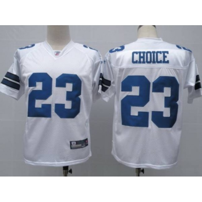 Cowboys #23 Tashard Choice White Stitched NFL Jersey