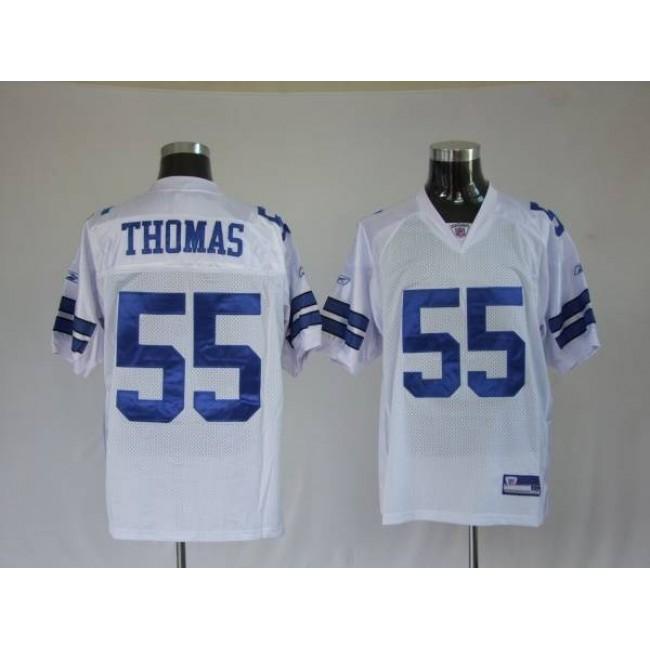 Cowboys #55 Zach Thomas White Stitched NFL Jersey