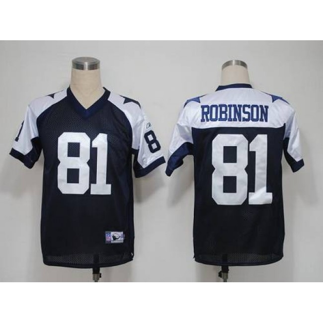 Cowboys #81 Laurent Robinson Blue Thanksgiving Stitched NFL Jersey