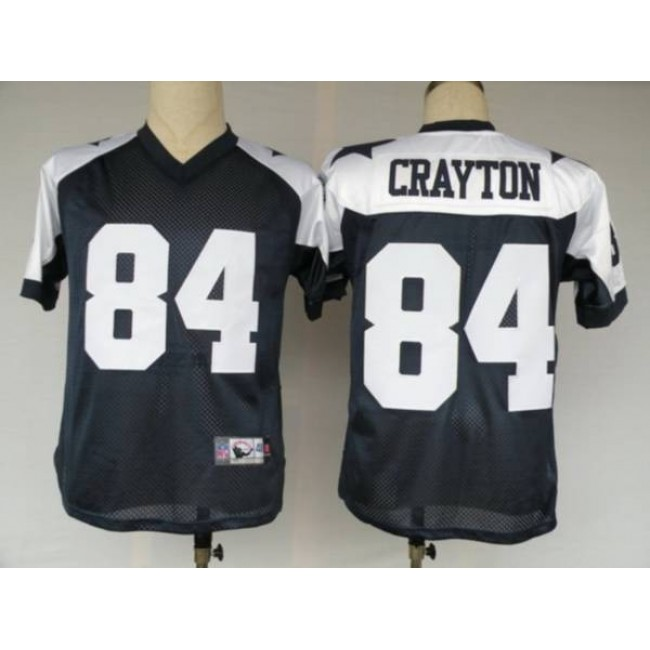 Cowboys #84 Patrick Crayton Blue Thanksgiving Stitched Throwback NFL Jersey