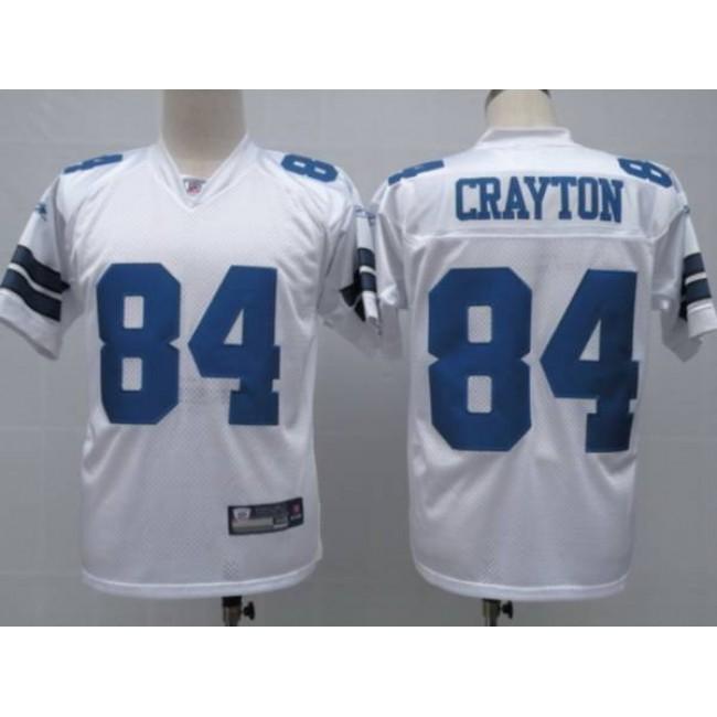 Cowboys #84 Patrick Crayton White Stitched NFL Jersey