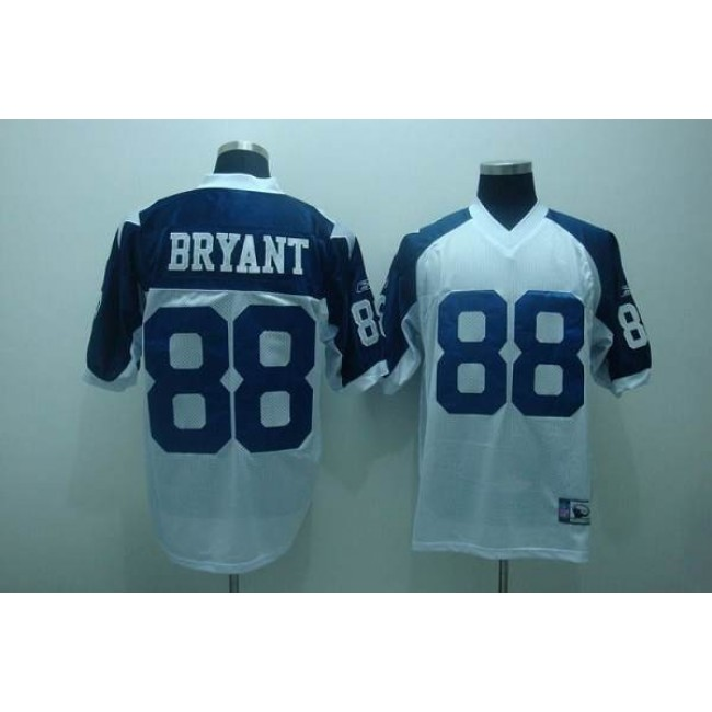 Cowboys #88 Dez Bryant White Thanksgiving Stitched Throwback NFL Jersey