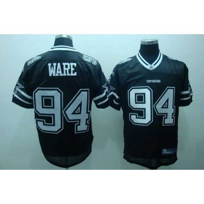 Cowboys #94 DeMarcus Ware Black Shadow Stitched NFL Jersey