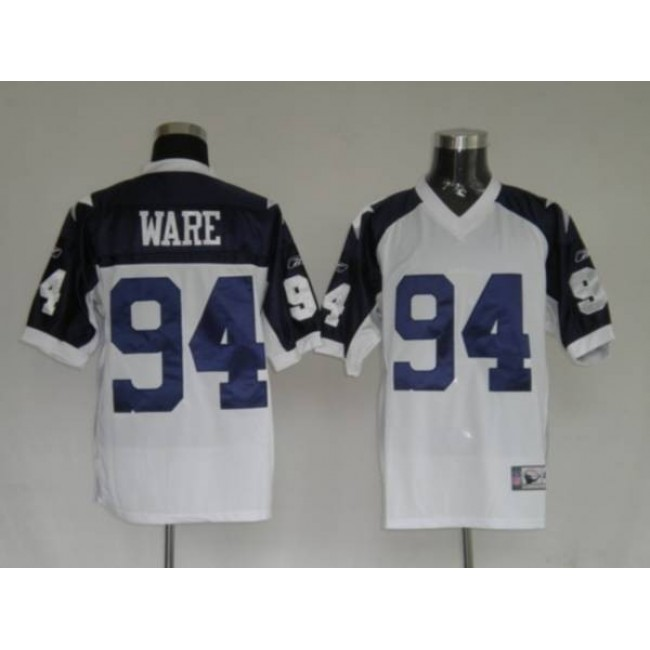 Cowboys #94 DeMarcus Ware White Thanksgiving Stitched Throwback NFL Jersey