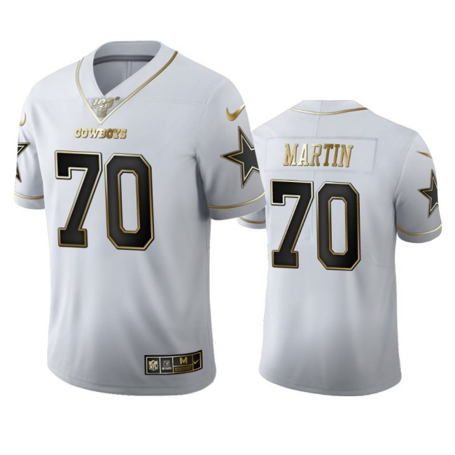 Dallas Cowboys #70 Zack Martin Men's Nike White Golden Edition Vapor Limited NFL 100 Jersey