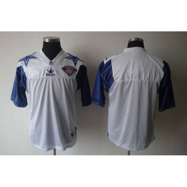 Mitchell And Ness 75TH Cowboys Blank White Stitched NFL Jersey