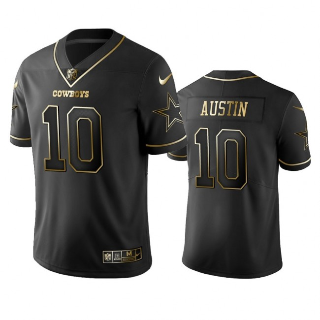 Nike Cowboys #10 Tavon Austin Black Golden Limited Edition Stitched NFL Jersey