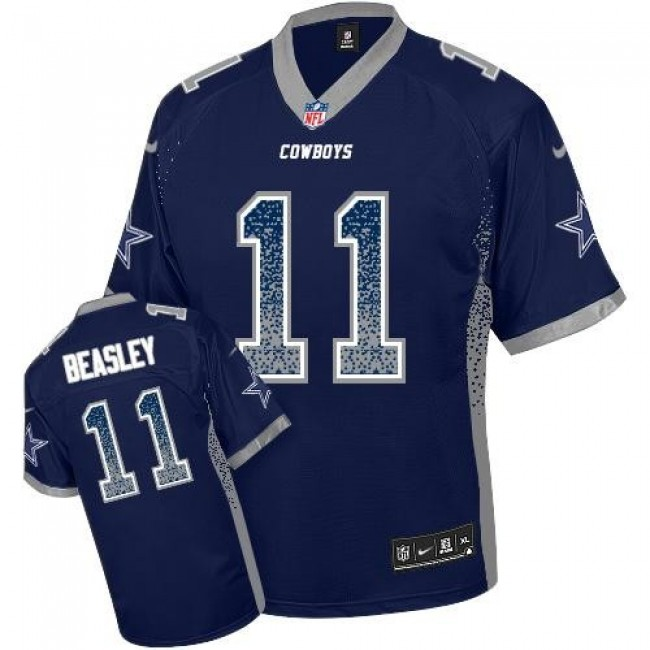 Dallas Cowboys #11 Cole Beasley Navy Blue Team Color Youth Stitched NFL Elite Drift Fashion Jersey