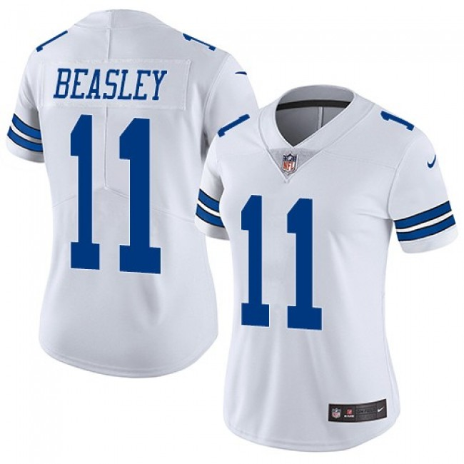 Women's Cowboys #11 Cole Beasley White Stitched NFL Vapor Untouchable Limited Jersey