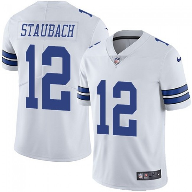 Dallas Cowboys #12 Roger Staubach White Youth Stitched NFL Vapor Untouchable Limited Jersey