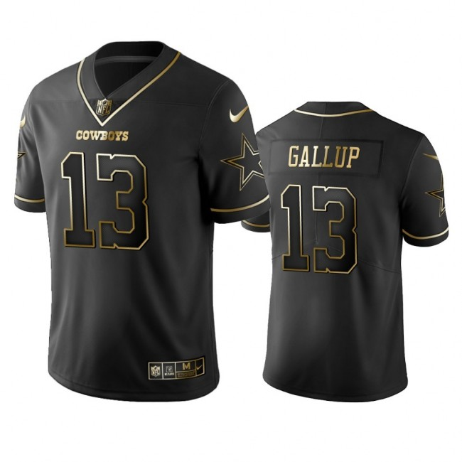Nike Cowboys #13 Michael Gallup Black Golden Limited Edition Stitched NFL Jersey