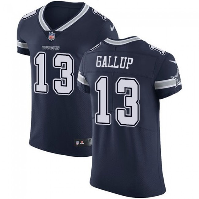 Nike Cowboys #13 Michael Gallup Navy Blue Team Color Men's Stitched NFL Vapor Untouchable Elite Jersey