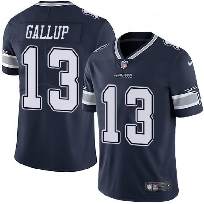 Nike Cowboys #13 Michael Gallup Navy Blue Team Color Men's Stitched NFL Vapor Untouchable Limited Jersey