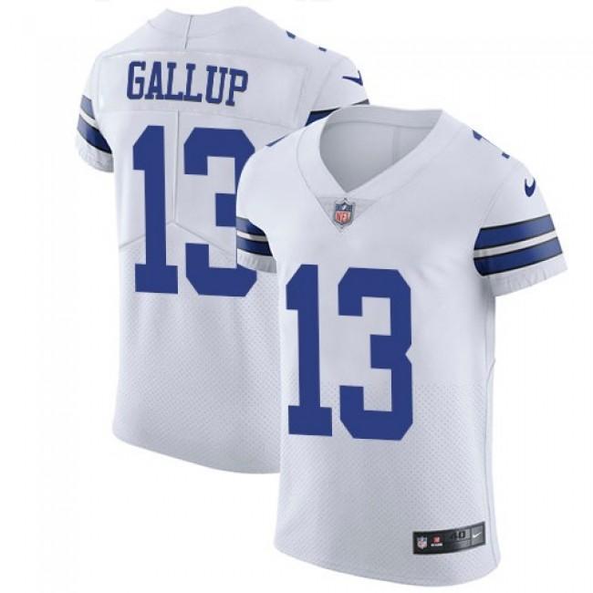 Nike Cowboys #13 Michael Gallup White Men's Stitched NFL Vapor Untouchable Elite Jersey