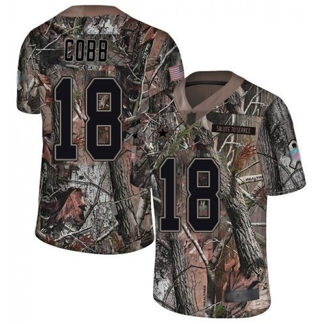 Nike Cowboys #18 Randall Cobb Camo Men's Stitched NFL Limited Rush Realtree Jersey