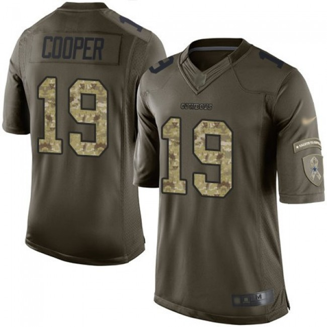 Nike Cowboys #19 Amari Cooper Green Men's Stitched NFL Limited 2015 Salute to Service Jersey