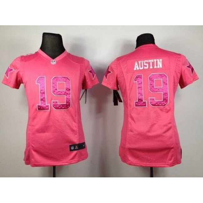 Women's Cowboys #19 Miles Austin Pink Sweetheart Stitched NFL Elite Jersey